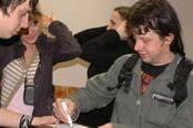 Максим Удало пишет пожелание фан-клубу Наш Rock (нажмите для увеличения)