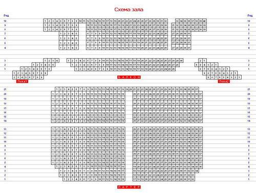 Схема зала Fesco-Hall (Нажмите для увеличения)